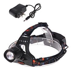 Hoofdlampen Fietsverlichting LED 1200 Lumens 3 Modus Cree XM-L T6 18650 Verstelbare focus Oplaadbaar Waterbestendig Slagring Tactisch