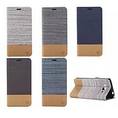お買い得  Samsung その他の機種用ケース/カバー-ケース 用途 Samsung Galaxy Samsung Galaxy ケース カードホルダー スタンド付き フリップ フルボディーケース 純色 PUレザー のために Grand Prime E7 E5 Core Prime