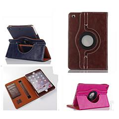 abordables Carcasas y Fundas para iPad Air 2-Funda Para Apple con Soporte / Activado / Apagado Automático / Rotación 360º Funda de Cuerpo Entero Un Color Cuero de PU para iPad Air 2