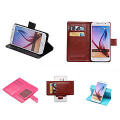 Voor Samsung Galaxy hoesje Kaarthouder / met standaard / Flip hoesje Volledige behuizing hoesje Effen kleur PU-leer SamsungS7 edge plus /