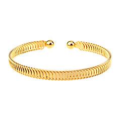 Dame Brățări Bantă Design Unic La modă stil minimalist Ajustabile Deschis costum de bijuterii Placat Auriu Bijuterii Bijuterii Pentru
