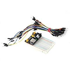 Χαμηλού Κόστους -400-τρύπα μονάδα mini breadboard + τροφοδοτικό + 65 άλμα καλώδια σετ για DIY / Arduino