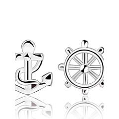 tanie Kolczyki-Damskie Kolczyki na sztyft Srebro standardowe Srebrny Kotwica Biżuteria Silver Ślub Impreza Codzienny Biżuteria kostiumowa