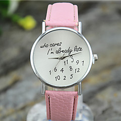 Women's Fashion Watch Quartz Leather Band Casual Black White Blue Red Green Pink Purple Yellow Rose