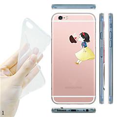 Käyttötarkoitus iPhone X iPhone 8 iPhone 5 kotelo kotelot kuoret Läpinäkyvä Kuvio Takakuori Etui Leikki Apple-logon kanssa Pehmeä TPU