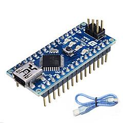 お買い得  マザーボード-Arduinoのためのナノバージョン3.0 atmega328p(公式のArduinoボードで動作します)