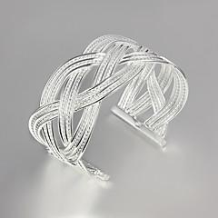お買い得  ブレスレット-女性用 バングル - 純銀製 ブレスレット ゴールド / シルバー 用途 結婚式 / パーティー / 日常