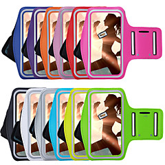For Med vindue Armbånd Etui Armbånd Etui Helfarve Blødt Tekstil for Universal iPhone 7 Plus iPhone 7 iPhone 6s Plus/6 Plus iPhone 6s/6