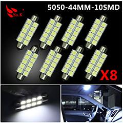 Недорогие Освещение салона авто-SO.K 4шт 41mm Автомобиль Лампы SMD 5050 160 lm 10 Внутреннее освещение