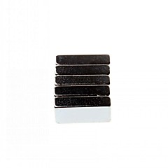 5-Pack Super-Strong Rare-Earth Re Magnets - Silver (20X10X5Mm)