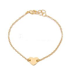 preiswerte Armbänder-Damen Bettelarmbänder - Herz, Liebe Simple Style, Modisch Armbänder Silber / Golden Für Weihnachts Geschenke / Party / Alltag