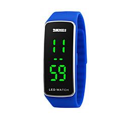 Infantil Relógio Esportivo Digital LED Calendário Relógio Esportivo Silicone Banda Preta Azul Vermelho Roxa