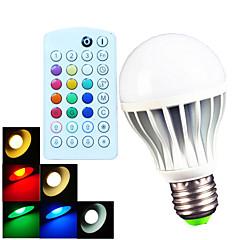 B22 E26/E27 LED Λάμπες Σφαίρα A60(A19) 15 leds SMD 5730 Με ροοστάτη Τηλεχειριζόμενο Διακοσμητικό Θερμό Λευκό Ψυχρό Λευκό Φυσικό Λευκό RGB
