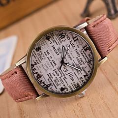 preiswerte Armbanduhren für Paare-Damen Modeuhr Schlussverkauf Leder Band Retro Schwarz / Weiß / Blau