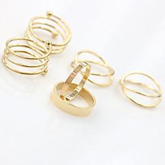 preiswerte Ringe-Damen Stapelbar Schmuckset Ringe Set - Aleación Verstellbar Silber / Golden Für Party Alltag Normal / 6pcs