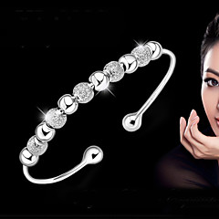 cheap Bracelets-Women's Bracelet Bangles Bracelet - Sterling Silver Basic, Fashion Bracelet Silver For Wedding Party Daily
