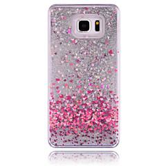 Недорогие Чехлы и кейсы для Galaxy Note 5-Кейс для Назначение SSamsung Galaxy Samsung Galaxy Note Движущаяся жидкость Кейс на заднюю панель С сердцем ПК для Note 5 Note 4 Note 3