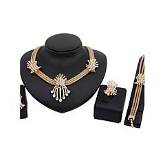 Mujer Juego de Joyas Pendientes colgantes Collares con colgantes Cosecha Joyería de Lujo joyería de disfraz Brillante Chapado en Oro Joyas