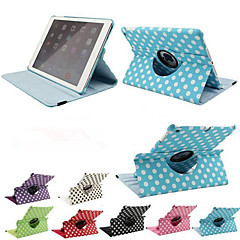 Luxury Print Polka Dot 360 Rotation PU Leather case for Apple iPad Air Tablet Smart Cover Flip Cases With Stand