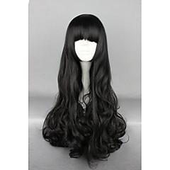 tanie -Peruki Lolita Sweet Lolita Black Lolita Peruki Lolita 70 CM Peruki Cosplay Jendolity kolor Peruka Na