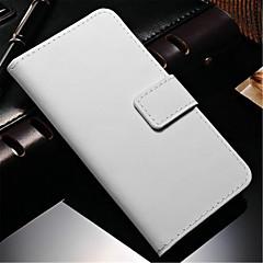 abordables Accesorios de Samsung-Funda Para Samsung Galaxy Samsung Galaxy Note Cartera / Soporte de Coche / con Soporte Funda de Cuerpo Entero Un Color Cuero de PU para Note 4