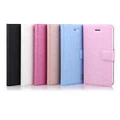 Недорогие Кейсы для iPhone 5-ASLING Кейс для Назначение iPhone 5 / Apple Кейс для iPhone 5 Бумажник для карт / со стендом / Флип Чехол Однотонный Твердый Кожа PU для iPhone SE / 5s / iPhone 5