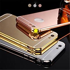 Nowy, luksusowy galwanicznie aluminium metalowa rama lustra akrylowe + plecy skrzynki pokrywy muszli na iphone6plus 5.5inch