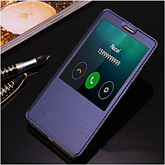 お買い得  Huawei Pシリーズケース/ カバー-ケース 用途 Huawei Huawei社メイト8 Mate 8 Huaweiケース スタンド付き ウィンドウ付き オートオン/オフ フリップ フルボディーケース 純色 ハード PUレザー のために Huawei Mate 8 Huawei