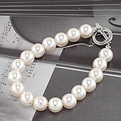 お買い得  ブレスレット-女性用 ストランドブレスレット  -  真珠, 人造真珠 ユニーク, ファッション ブレスレット ホワイト 用途 パーティー 日常 カジュアル