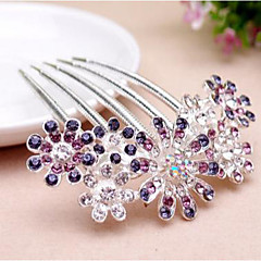 cheap Hair Jewelry-Women's Elegant Rhinestone / Alloy Hair Comb Flower / Hair Combs / Hair Combs