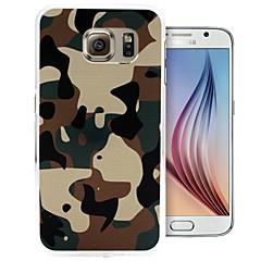 For Samsung Galaxy etui Mønster Etui Bagcover Etui Camouflage PC for Samsung S6 edge S6