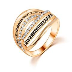 preiswerte Ringe-Damen Bandring - Zirkon Einzigartiges Design, Modisch 6 / 7 / 8 Silber / Golden Für Hochzeit / Party / Alltag
