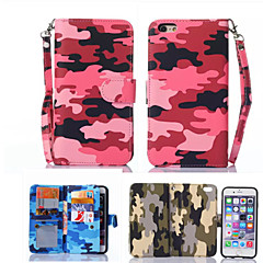 Для Кейс для iPhone 6 / Кейс для iPhone 6 Plus Кошелек / Флип Кейс для Чехол Кейс для Камуфляж Твердый Искусственная кожаiPhone 6s Plus/6