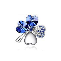 de înaltă calitate placat cu aur nou de moda / de argint cu cristale austriece elegante cu patru foi broșe inima trifoi pini bijuterii