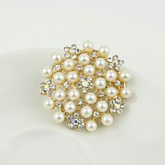お買い得  ブローチ-女性用 - 人造真珠, ラインストーン ファッション ブローチ シルバー / ゴールデン 用途 結婚式 / パーティー