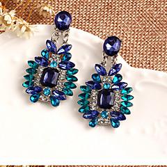 preiswerte Ohrringe-Damen Kristall Tropfen-Ohrringe - Kubikzirkonia Luxus Blau Für
