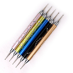 5pcs ferramentas de unhas haste de metal caneta de ponta de broca