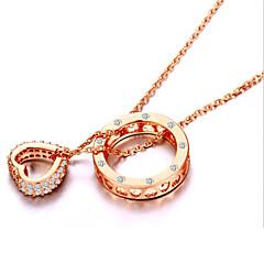 preiswerte Halsketten-Damen Kristall Anhängerketten - Sterling Silber, Strass, Silber Herz, Liebe Modisch Gold, Silber Modische Halsketten Für Party, Alltag, Normal