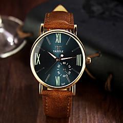 お買い得  大特価腕時計-男性用 リストウォッチ カジュアルウォッチ レザー バンド チャーム ブラック / ブラウン / ステンレス