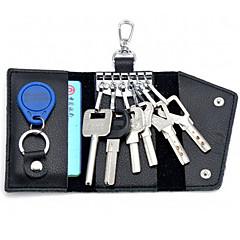 Недорогие Брелоки-мужские кожаные многофункциональные ключевые сумки популярный специальный пакет высокого класса карты