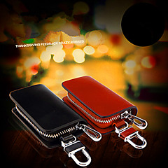 cheap Key Chains-Car Key Buckle Car Supplies Genuine Leather Key Bag / Man Waist Hanging Key Sets Of General Purpose