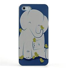 Кейс для Назначение Кейс для iPhone 5 С узором Задняя крышка Слон Твердый PC для iPhone SE/5s iPhone 5