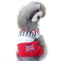お買い得  犬用ウェア&アクセサリー-犬 ジャンプスーツ 犬用ウェア 国旗 ブリティッシュ レッド コットン コスチューム ペット用 男性用 女性用 ファッション