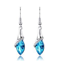 preiswerte Ohrringe-Damen Kristall Tropfen-Ohrringe - Krystall Blau / Rosa / Golden Für Hochzeit / Party / Alltag