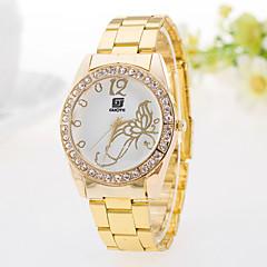お買い得  大特価腕時計-女性用 カジュアルウォッチ ファッションウォッチ ダミー ダイアモンド 腕時計 クォーツ 模造ダイヤモンド 合金 バンド ハンズ 蝶型 ゴールド - シルバー ゴールデン