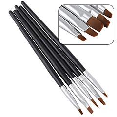 5pcs / להגדיר עט סלון חדש יופי מסמר אמנות אקריליק uv ג'ל סלון ערכת שטוח מברשת מנקדים כלי קישוטים
