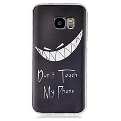 voordelige Galaxy S6 Edge Hoesjes / covers-hoesje Voor Samsung Galaxy Samsung Galaxy hoesje Transparant Achterkant Zwart & Wit TPU voor S7 S6 edge S6 S5 Mini S5 S4 Mini S4 S3 Mini