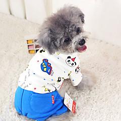 Σκύλος Φόρμες Πυτζάμες Ρούχα για σκύλους Χαριτωμένο Καθημερινά Κινούμενα σχέδια Τριανταφυλλί Μπλε Στολές Για κατοικίδια