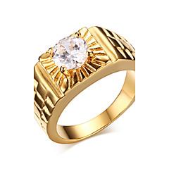 billige Herresmykker-Herre Statement Ring - Zirkonium, Guldbelagt Mode 7 / 8 / 9 Gylden Til Julegaver / Bryllup / Fest