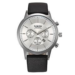 preiswerte Tolle Angebote auf Uhren-Herrn Armbanduhr Kalender / Cool Leder Band Modisch Schwarz / Weiß / Blau / Edelstahl / Sony S626 / Zwei jahr